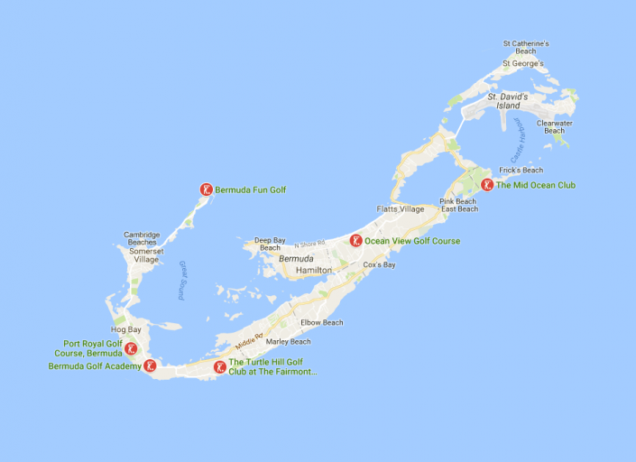 Bermuda travel planning map