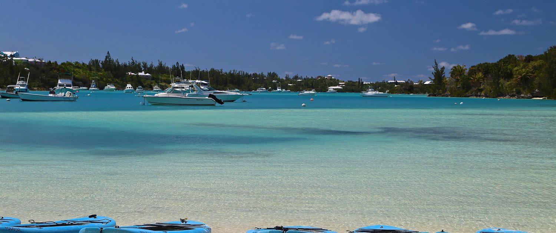 SUP boards on beach in Bermuda