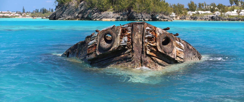 Bermuda Shipwreck visible from Willowbank Resort