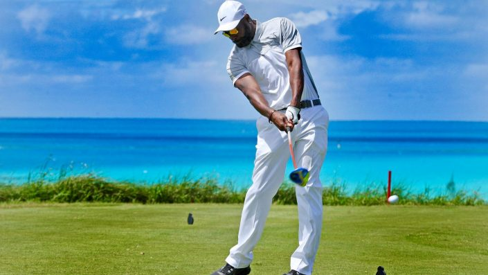 Jerry Rice golfing at Port Royal in Bermuda